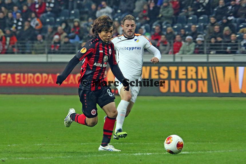 Chance für Takashi Inui (Eintracht) - Eintracht Frankfurt vs. APOEL Nikosia, Commerzbank Arena, Europa League Gruppenphase