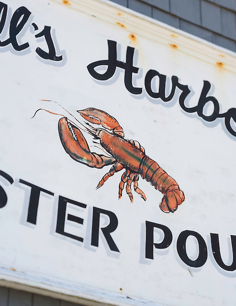 A sign at Hall's Harbour Lobster Pound in Hall's Harbour, Nova Scotia. Photo by Kevin J. Miyazaki/Redux