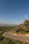 Israel, Lower Galilee. Beth Keshet scenic road