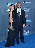 Mel Gibson &amp; Rosalind Ross at the 22nd Annual Critics' Choice Awards at Barker Hangar, Santa Monica Airport. <br /> December 11, 2016<br /> Picture: Paul Smith/Featureflash/SilverHub 0208 004 5359/ 07711 972644 Editors@silverhubmedia.com