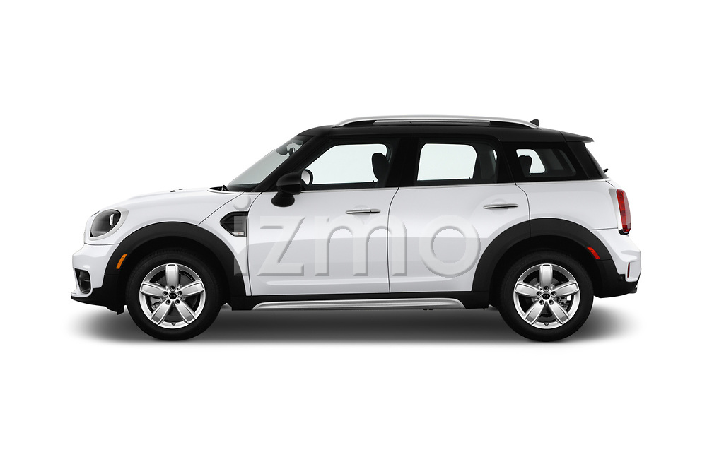 Car Driver side profile view of a 2017 MINI Countryman 5-Door 5 Door Hatchback Side View