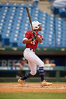 Christian Smith (15) of Grady High School in Atlanta, GA during the Perfect Game National Showcase at Hoover Metropolitan Stadium on June 18, 2020 in Hoover, Alabama. (Mike Janes/Four Seam Images)
