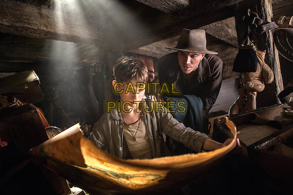 LEVI MILLER as Peter and GARRETT HEDLUND as as James Hook in Warner Bros. Pictures' action adventure &quot;PAN,&quot; a Warner Bros. Pictures release.<br /> *Filmstill - Editorial Use Only*<br /> CAP/KFS<br /> Image supplied by Capital Pictures
