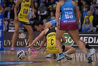 Action from the ANZ Premiership netball final between the Central Pulse and Southern Steel at Arena Manawatu in Palmerston North, New Zealand on Sunday, 12 August 2018. Photo: Dave Lintott / lintottphoto.co.nz
