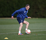 Dean Shiels practices his touch at training