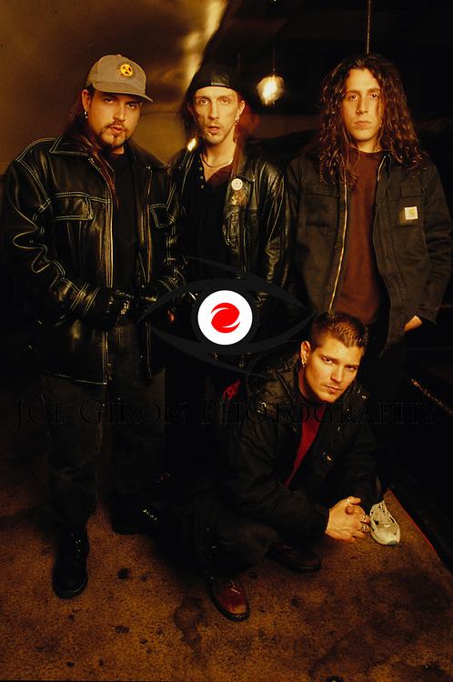 Portraits of the band, Biohazard.