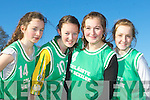 Laura O'Connor, Maria Moriarty, Grace O'Connor and Ciara Sugrue Colaiste na Scelige who participated at the Kerry Colleges Cross Country championships in Killarney on Friday..