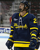 Alfred Larsson (Merrimack - 23) - The visiting Merrimack College Warriors defeated the Boston University Terriers 4-1 to complete a regular season sweep on Friday, January 27, 2017, at Agganis Arena in Boston, Massachusetts.The visiting Merrimack College Warriors defeated the Boston University Terriers 4-1 to complete a regular season sweep on Friday, January 27, 2017, at Agganis Arena in Boston, Massachusetts.
