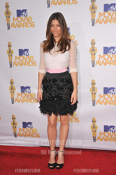 Jessica Biel at the 2010 MTV Movie Awards at the Gibson Amphitheatre, Universal Studios, Hollywood..June 6, 2010  Los Angeles, CA.Picture: Paul Smith / Featureflash