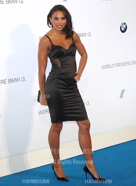 Louise Hazel arriving for the BMW i3 Launch Party, at Old Billingsgate, London. 29/07/2013 Picture by: Alexandra Glen / Featureflash