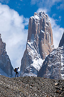 Adrian Ballanger treks below Nameless Tower en route to K2 basecamp.