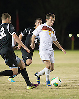 The Winthrop University Eagles beat the UNC Asheville Bulldogs 4-0 to clinch a spot in the Big South Championship tournament.  Patrick Barnes (11), Hans Lohmeyer (22)