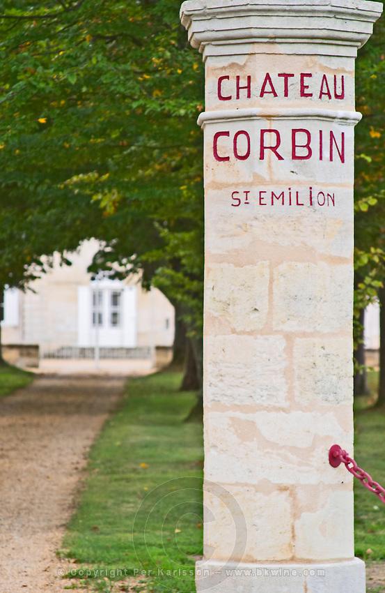 Gates. Chateau Corbin. Saint Emilion, Bordeaux, France