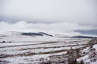 WEATHER PICTURE WALES<br /> Pictured: Fields covered in snow near Penderyn, in Powys, Wales, UK. Tuesday 29 January 2019<br /> Re: A Met Office yellow warning for snow and ice for the whole of Wales has came into force.