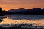 Sunset at Rodman Slough, near Nice, Clear Lake, Lake County, California