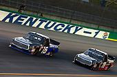 #16: Brett Moffitt, Hattori Racing Enterprises, Toyota Tundra ADVICS /AISIN GROUP #18: Noah Gragson, Kyle Busch Motorsports, Toyota Tundra Safelite AutoGlass