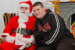 Santa and Alex Grendon at the Youthreach Christmas Party..Picture: Shane Maguire / www.newsfile.ie.
