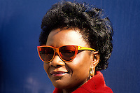 Portrait of Afro american lady with sunglasses in New Orleans, Louisiana, USA