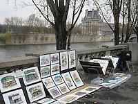 Paintings on the Seine, Paris