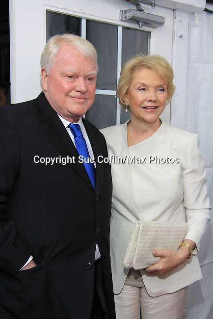 "One Life To Live's Erika Slezak ""Victoria Lord Buchanan"" with her husband Brian Davies on the Red Carpet at New York Premiere Event for beloved series ""One Life To Live"" on April 23, 2013 at NYU Skirball, New York City, New York - as The Online Network (TOLN) - OLTL - AMC begin airing on April 29, 2013 on Hulu and Hulu Plus.  (Photo by Sue Coflin/Max Photos)"