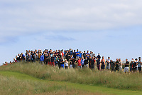Part of the crowd out watching the play on the 5th during Round 4 of the Aberdeen Standard Investments Scottish Open 2019 at The Renaissance Club, North Berwick, Scotland on Sunday 14th July 2019.<br /> Picture:  Thos Caffrey / Golffile<br /> <br /> All photos usage must carry mandatory copyright credit (© Golffile | Thos Caffrey)