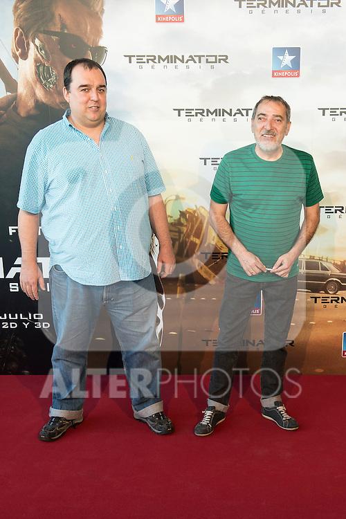 Actor Enrique Vill&eacute;n attends to the premiere of Terminator Genesis at Kinepolis Cinema in Madrid, Spain. July 08, 2015.<br />  (ALTERPHOTOS/BorjaB.Hojas)