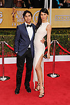 LOS ANGELES, CA - JANUARY 27: Kunal Nayyar and Neha Kapur arrive at the19th Annual Screen Actors Guild Awards held at The Shrine Auditorium on January 27, 2013 in Los Angeles, California.