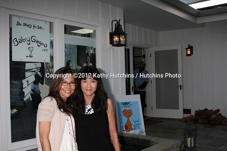 """LOS ANGELES - APR 28:  Vanessa Marcil-Giovinazzo, Suzanne Whang at the Launch of """"Baby Gagoo"""" Clothing Line by Vanessa Marcil-Giovinazzo at private home on April 28, 2012 in Malibu, CA"""