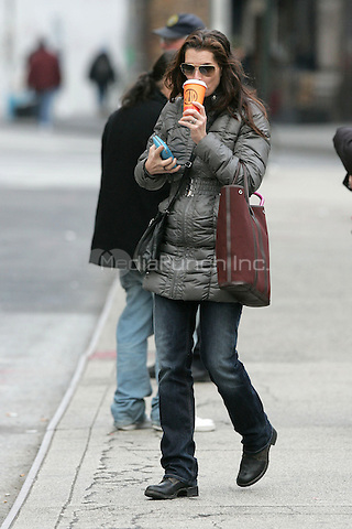 Brooke Shields seen on the streets of New York City. December 14, 2009.. Credit: Dennis Van Tine/MediaPunch