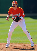 Clemson infielder Mike Freeman prior to a game between the Clemson Tigers and Mercer Bears on Feb. 23, 2008, at Doug Kingsmore Stadium in Clemson, S.C. Photo by: Tom Priddy/Four Seam Images