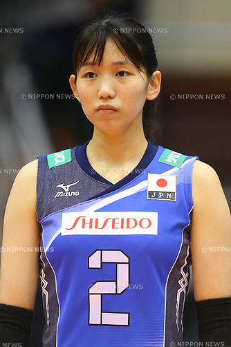 Sarina Koga (JPN), <br /> JULY 16, 2017 - Volleyball : FIVB Volleyball World Grand Prix SENDAI 2017 match between <br /> Brazil 2-3 Japan  <br /> at Kamei Arena Sendai, in Sendai, Japan. <br /> (Photo by Sho Tamura/AFLO)
