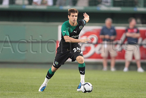 21 JUL 2010:  Sporting Lisbon's Miguel Veloso (24). Celtic and Sporting Clube de Portugal were scoreless at halftime in an international friendly match, part of the Fenway Football Challenge, at Fenway Park in Boston, Massachusetts on July 21, 2010.