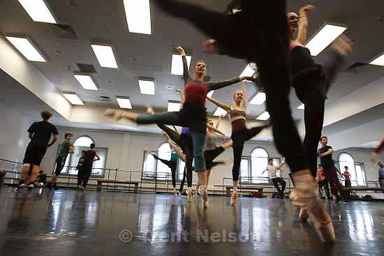 "Kurt Bestor conducts a rehearsal of ""Dreams of the Valley"" for Ballet West's ""The Dream."" Thursday, October 15 2009 in Salt Lake City."