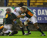 Photo: Richard Lane/Richard Lane Photography. England U20 v South Africa U20. Semi Final. 18/06/2008. England's Joe Simpson attacks the South Africa defence.
