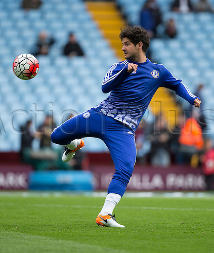 02.04.2016. Villa Park, Birmingham, England. Barclays Premier League. Aston Villa versus Chelsea.  Chelsea striker Alexandre Pato warming up with the ball before the match.