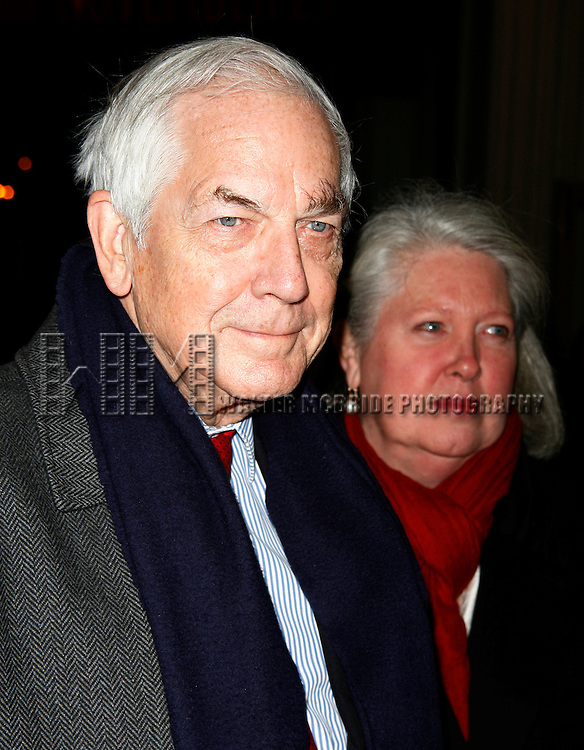 Anthony Marshall ( son of Brooke Astor ) &amp; wife Charlene<br /> Arriving for the Opening Night Performance of  THE HOMECOMING at the Cort Theatre in New York City.<br /> December 16, 2007