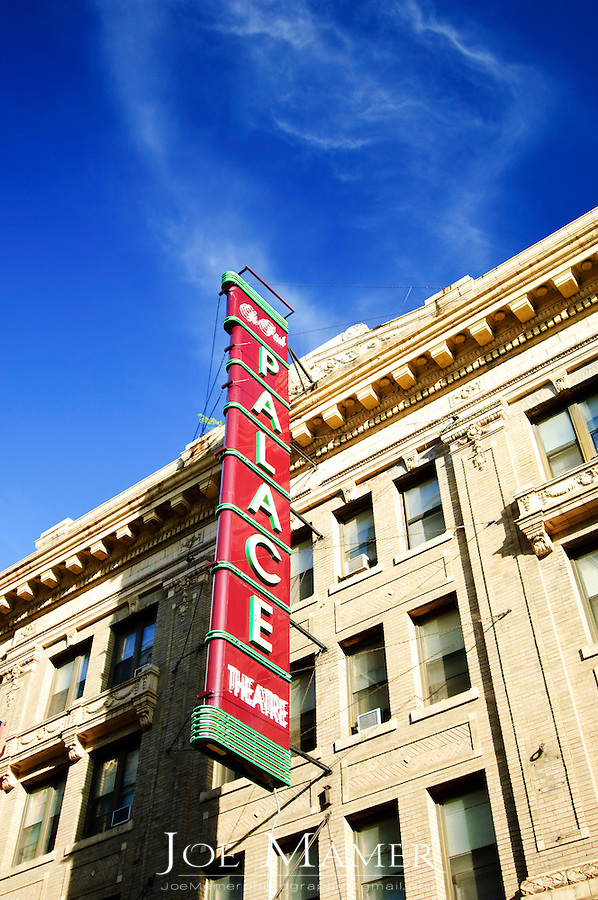 Palace Theater sign in downtown Saint Paul, Minnesota.