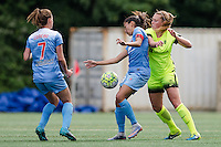 Seattle, WA - Sunday, May 22, 2016: Chicago Red Stars forward Christen Press (23) traps the ball during a regular season National Women's Soccer League (NWSL) match at Memorial Stadium. Chicago Red Stars won 2-1.