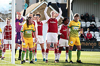 The players line up for a corner during Arsenal Women vs Yeovil Town Ladies, FA Women's Super League FA WSL1 Football at Meadow Park on 11th February 2018