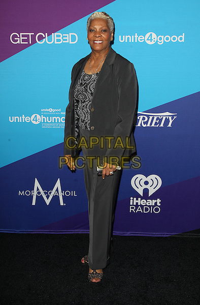Los Angeles, CA - FEBRUARY 27: Dionne Warwick Attending Unite4good And Variety Host 1st Annual Unite4:humanity Event, Held at Sony Pictures Studios California on February 27, 2014.  <br /> CAP/MPI/RTNUPA <br /> &copy;RTNUPA/MediaPunch/Capital Pictures