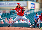 1 March 2019: Washington Nationals pitcher Trevor Rosenthal on the mound during Spring Training play against the Miami Marlins at Roger Dean Stadium in Jupiter, Florida. The Nationals defeated the Marlins 5-4 in Grapefruit League play. Mandatory Credit: Ed Wolfstein Photo *** RAW (NEF) Image File Available ***