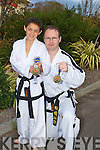 WORLD champion Jordan Dalton  with two two Gold Medals in whic he won in the World Kickboxing Championships last Friday in Edinburgh. .................. ....................