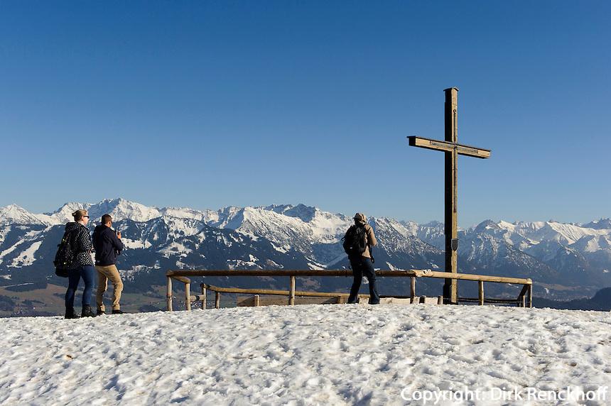 Gipfelkreuz am Ofterschwanger Horn im Allg&auml;u, Bayern, Deutschland<br /> summit cross of  Ofterschwanger Horn, Allg&auml;u, Bavaria, Germany