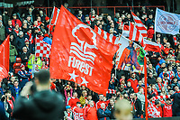Nottingham Forest's Trent End stand during the Sky Bet Championship match between Nottingham Forest and Derby County at the City Ground, Nottingham, England on 10 March 2018. Photo by Stephen Buckley / PRiME Media Images.