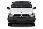 Car photography straight front view of a 2013 Mercedes Benz Vito 113CDi SWB Long 4 Door Cargo Van 2WD Front View