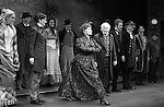 Betsy Wolfe, Stephanie J. Block, Chita Rivera, Jim Norton, Will Chase, Gregg Edelman, Andy Karl, Robert Creighton & Company during the Broadway Opening Night Performance Curtain Call for 'The Mystery of Edwin Drood' at Studio 54 in New York City on 11/13/2012