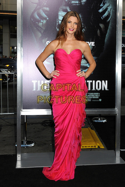 "Ashley Greene.""The Apparition"" Los Angeles Special Screening held at Grauman's Chinese Theatre, Hollywood, California, USA..August 23rd, 2012.full length dress hands on hips pink strapless   .CAP/ADM/BP.©Byron Purvis/AdMedia/Capital Pictures."