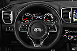 Car pictures of steering wheel view of a 2016 KIA Sportage GT-Line 5 Door Suv Steering Wheel