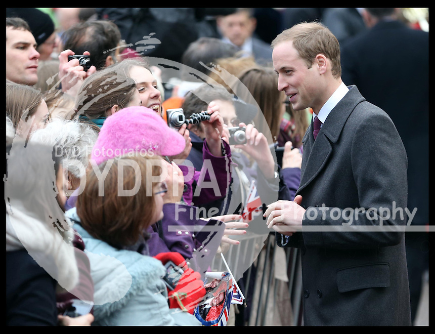 The Duke of Cambridge on a walkabout in Market Square , Cambridge, Wednesday , 28th November 2012. .Photo by: Stephen Lock /i-Images / DyD Fotografos