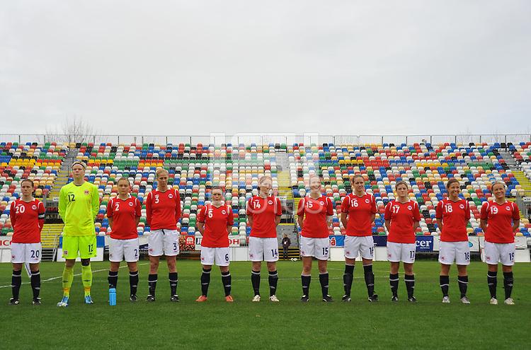 Norwegian Women's National Team Starting Lineup Photo